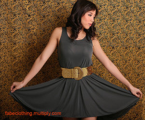 grey dress by FABE