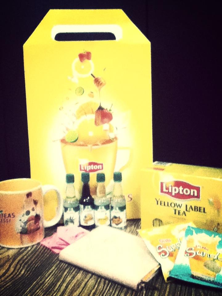Thanks Lipton for the Christmas basket!