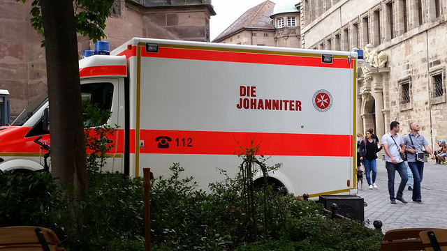 This is the German version of the Red Cross, Die Johanniter. But Anglophones will read this differently...