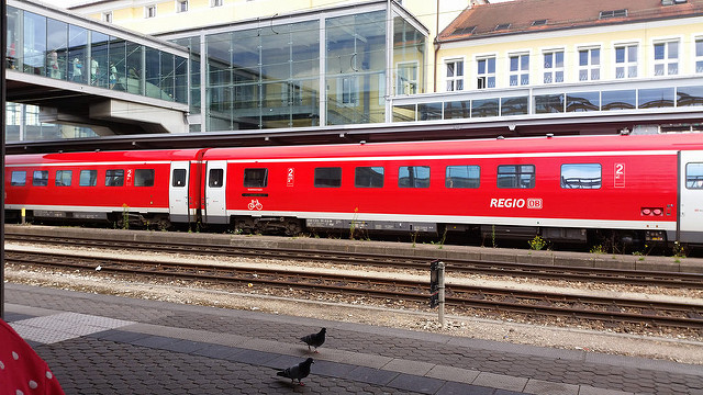 regional train at Regensburg train station