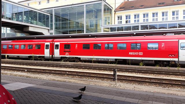 regional train at Regensburg train station