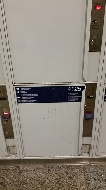 Munich Train Station locker