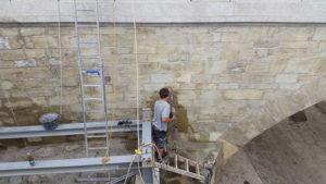 Regensburg Old Stone Bridge repair work