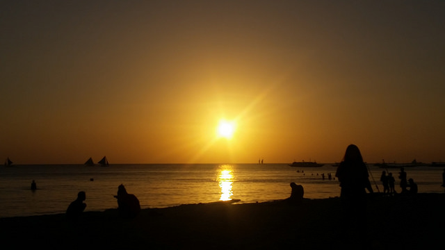 Sunset on Boracay Island