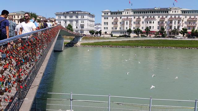 the Makartsteg Bridge for pedestrians only