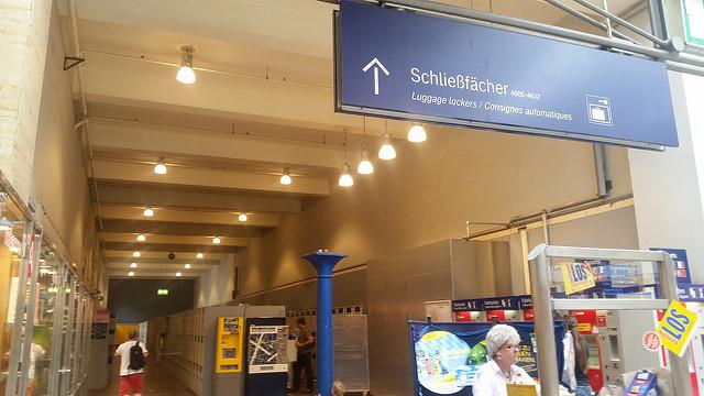 luggage lockers at Munich Train Station