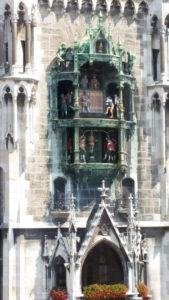 Glockenspiel as seen from Cafe Glockenspiel Munich