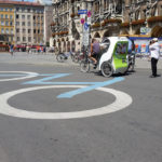 the Marienplatz is a pedestrian and bike-only zone