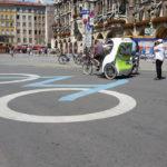 the Marienplatz is a pedestrian and bike-only zone