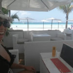 Working at Boracay beach